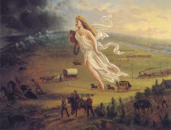 John Gast, American Progress, circa 1872.