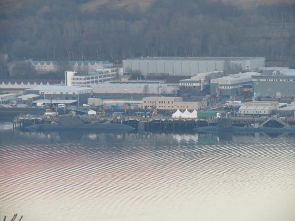 Astute and Jimmy Carter, Faslane, Feb, 2013