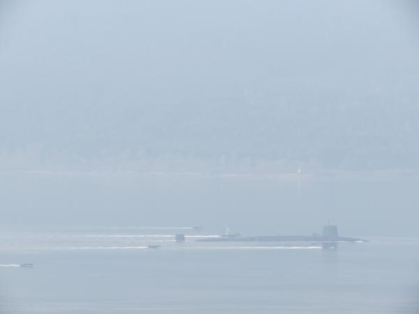 Submarine, Loch Long, Tuesday 5th March, 2013