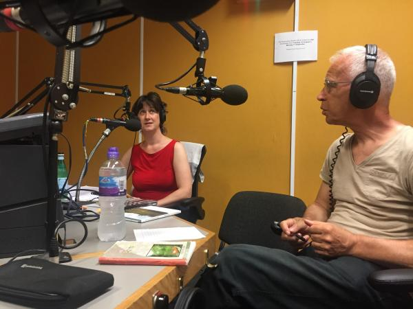 Ele Carpenter and Peter Cusak at Resonance Fm. Photo: Kyoko Tachibana