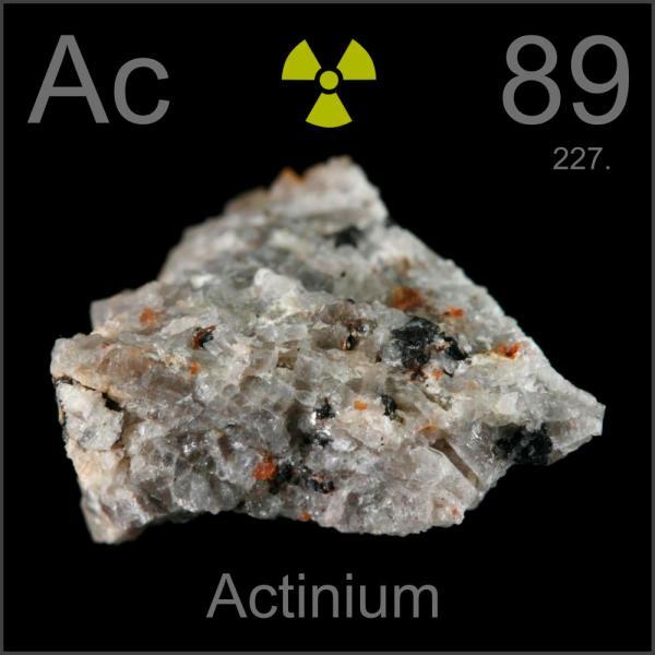 Actinium (c) 2014 Theodore Gray periodictable.com