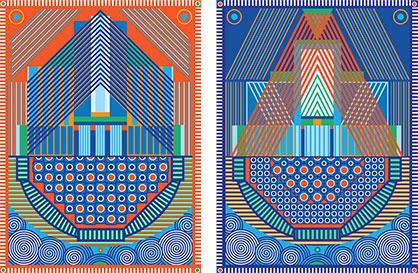 Yelena Popova, Keepsafe (I and II), design for two Jacquard woven tapestries, 2019