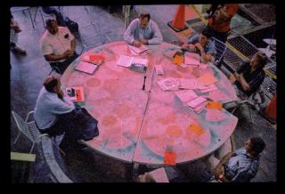 James Acord, Round Table, for artists, environmentalists and nuclear experts, Hanford USA, 1999