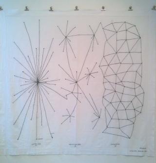 Ele Carpenter, Network Embroidery, After Paul Baran, 2010