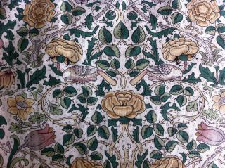 William Morris, Tudor Rose, 1883, used to upholster British nuclear submarine interiors